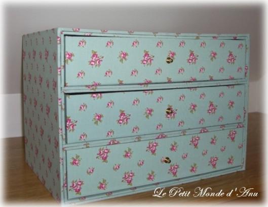 Boite à tiroirs / 3 drawer box