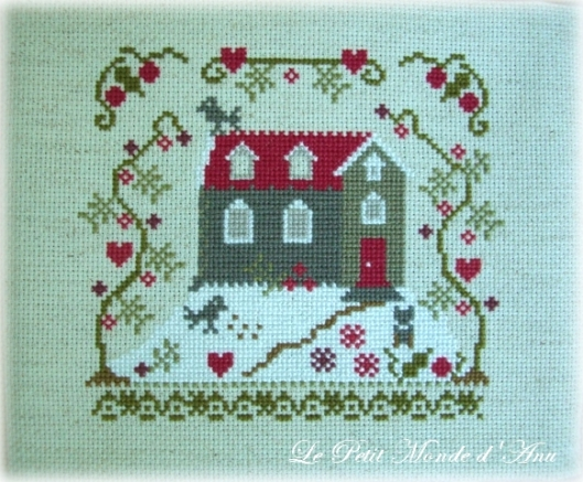 broderie maison coeurs