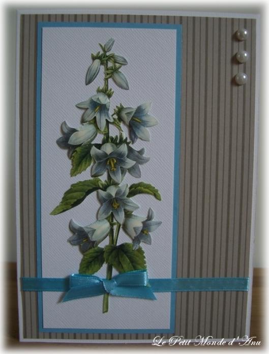 carte anniv 3D fleur