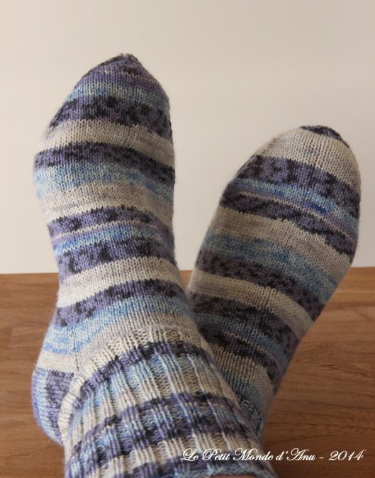 chaussettes multicolores bleues1