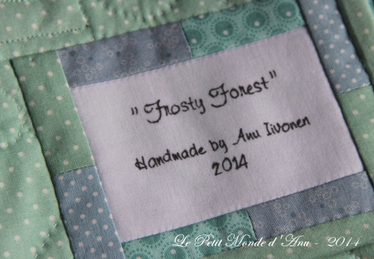 Frosty Forest quilt2