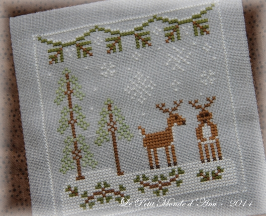 Frosty Forest snowy reindeer