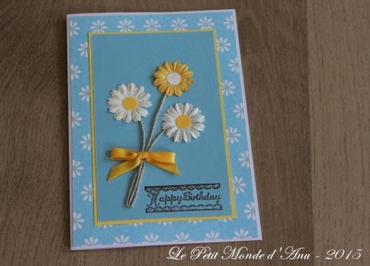 carte anniv daisies