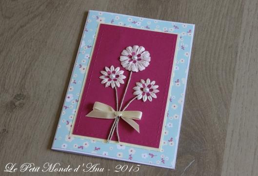 carte anniv fleurs